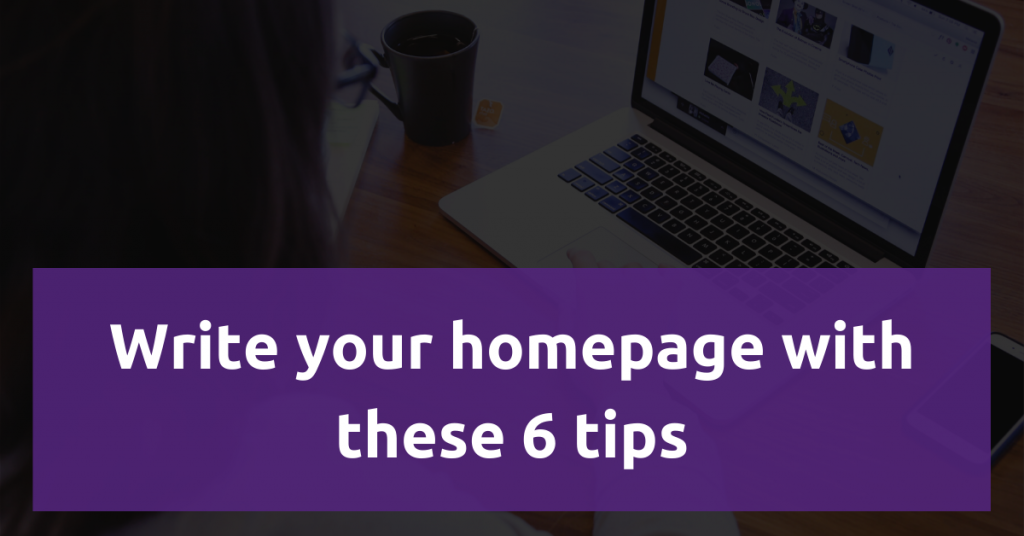 Featured image: How to Write your homepage