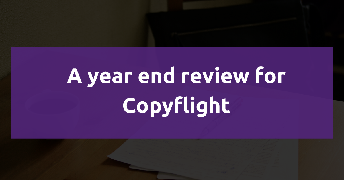 Featured image: A year end review for Copyflight